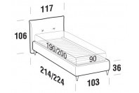 Beds Java Single bed with FLY bed frame