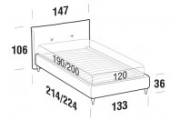 Beds Java French bed with FLY bed frame