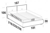 Beds Java Double bed with ROUND bed frame