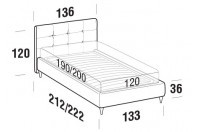 Beds Love French bed with FLY bed frame