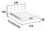 Beds Love Double bed with FLY bed frame