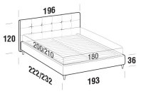 Beds Love Maxi double bed with FLY bed frame