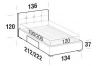 Beds Love French bed with BOX bed frame