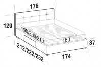 Beds Love Double bed with BOX bed frame