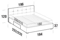 Beds Love Maxi double bed with BOX bed frame
