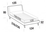 Beds Metropolitan French bed with UP bed frame