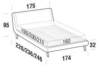 Beds Metropolitan Double bed with UP bed frame