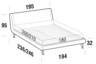 Beds Metropolitan Maxi double bed with UP bed frame