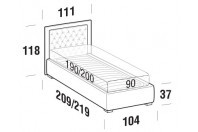 Beds Monet Single bed with FLOOR bed frame