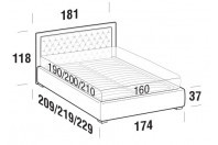 Beds Monet Double bed with FLOOR bed frame