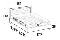 Beds Monet Double bed with FLY bed frame
