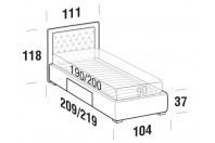 Beds Monet Single bed with BOX bed frame