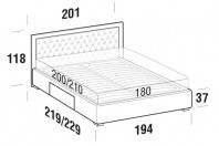 Beds Monet Maxi double bed with BOX bed frame