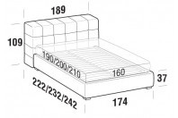 Beds Orazio Double bed with FLOOR bed frame