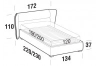 Beds Pasodoble French bed with FLOOR bed frame