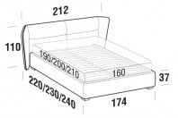 Beds Pasodoble Double bed with FLOOR bed frame