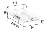 Beds Pasodoble French bed with BOX bed frame