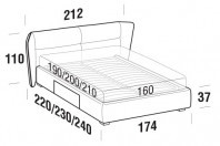 Beds Pasodoble Double bed with BOX bed frame