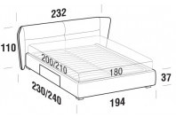 Beds Pasodoble Maxi double bed with BOX bed frame