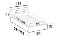Beds Phil French bed with FLOOR bed frame