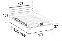 Beds Phil Double bed with FLOOR bed frame