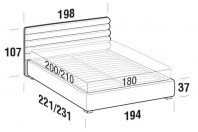 Beds Phil Maxi double bed with FLOOR bed frame
