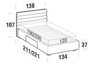 Beds Phil French bed with BOX bed frame