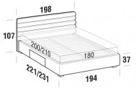 Beds Phil Maxi double bed with BOX bed frame