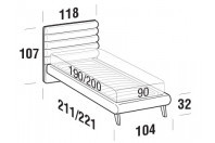 Beds Phil Single bed with UP bed frame