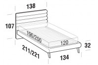 Beds Phil French bed with UP bed frame