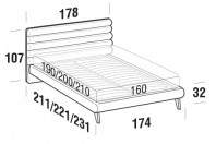 Beds Phil Double bed with UP bed frame