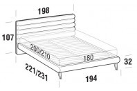 Beds Phil Maxi double bed with UP bed frame