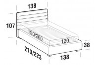 Beds Phil French bed with STRONG bed frame