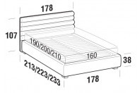Beds Phil Double bed with STRONG bed frame