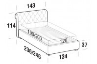 Beds Raffaello French bed with FLOOR bed frame