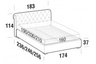 Beds Raffaello Double bed with FLOOR bed frame
