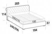 Beds Raffaello Maxi double bed with FLOOR bed frame