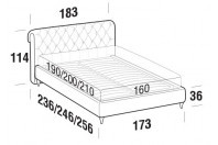 Beds Raffaello Double bed with FLY bed frame