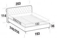 Beds Raffaello Maxi double bed with FLY bed frame