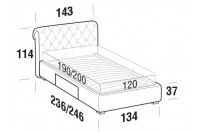 Beds Raffaello French bed with BOX bed frame