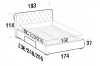 Beds Raffaello Double bed with BOX bed frame