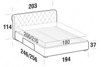 Beds Raffaello Maxi double bed with BOX bed frame