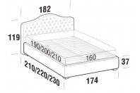Beds Renoir Double bed with FLOOR bed frame