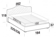 Beds Renoir Maxi double bed with FLOOR bed frame