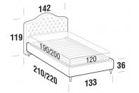 Beds Renoir French bed with FLY bed frame