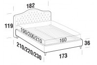 Beds Renoir Double bed with FLY bed frame