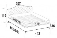 Beds Renoir Maxi double bed with FLY bed frame