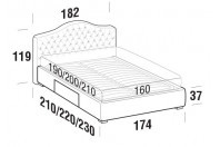 Beds Renoir Double bed with BOX bed frame