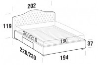 Beds Renoir Maxi double bed with BOX bed frame