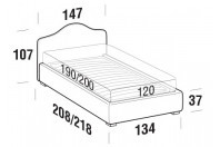 Beds Rosa French bed with FLOOR bed frame